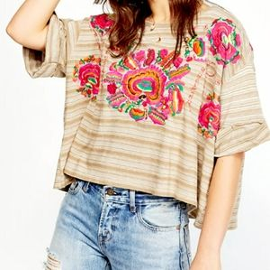 Free People Cataluna Embroidered Top NWT